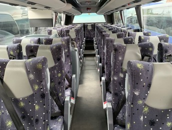 Interior of the 53 seat executive coach.